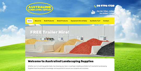 The new Australind Landscaping Supplies website rocks
